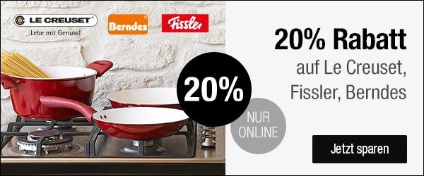 Bild zu Galeria Kaufhof: 20% Rabatt auf Artikel von Le Creuset, Fissler und Berndes