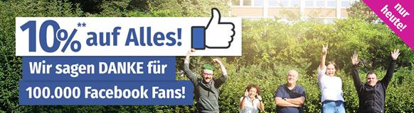 Danke für 100 000 Facebook-Fans