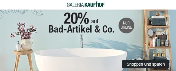 Bild zu Galeria Kaufhof Dienstagsangebot: 20% Rabatt auf Bad-Artikel & Co.