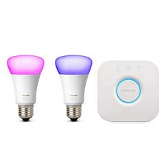 Bild zu Philips Hue White und Color Ambiance E27 LED Lampe Starter Set für 79,99€