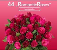 """Bild zu Blume Ideal: Blumenstrauß """"RomanticRoses"""" mit 46 pinken und roten Rosen für 24,98€"""