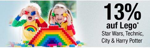 Bild zu Galeria Kaufhof: 13% Rabatt auf ausgewählte Lego Artikel