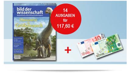 """Bild zu 14 Ausgaben der Zeitschrift """"Bild der Wissenschaft"""" für 117,60€ + 110€ als Prämie"""