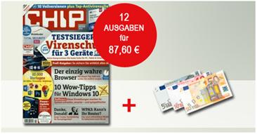 """Bild zu Jahresabo der Zeitschrift """"Chip Premium"""" (12 Ausgaben) für 87,60€ + 70€ Amazon.de Gutschein"""