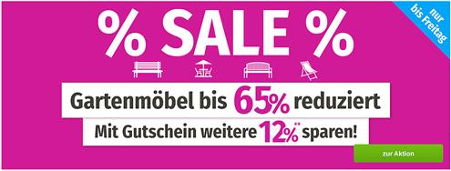 Bild zu GartenXXL: Gartenmöbel Sale mit bis zu 65% Rabatt + 12% Extra Rabatt