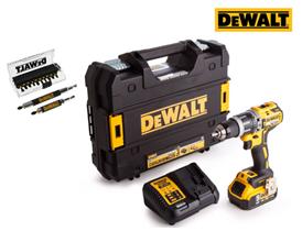 Bild zu DeWalt DCD796P1 Schlagbohrschrauber + DeWalt DT70512T Bit-Set (14-teilig) für 188,90€ (Vergleich: 257,30€)