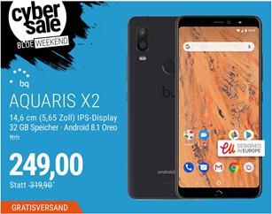 Bild zu BQ Aquaris X2 (5,65 Zoll) Smartphone für 249€ (Vergleich: 313,99€)