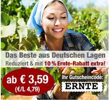 Bild zu Weinvorteil: 10% Extra Rabatt auf bereits reduzierte deutsche Weine