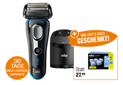 Bild zu Braun Series 9 9280CC Nass-/Trocken Rasierer + CCR 5+1 Reinigungskartuschen für 199€ (Vergleich: 273,40€)