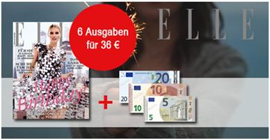 """Bild zu 6 Ausgaben der Zeitschrift """"ELLE"""" für 36€ + 35€ Verrechnungsscheck"""
