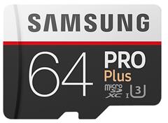 Bild zu Samsung Pro Plus 64GB microSDXC Speicherkarte für 25€ (Vergleich: 34,90€)