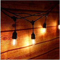 Bild zu Tomshine Retro Lichterkette (15m, 15 x E27 LED Glühbirne, IP65 Wasserdicht) für 47,91€