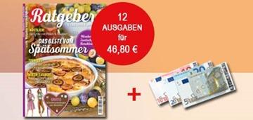 """Bild zu 12 Ausgaben """"Ratgeber"""" für 46,80€ + 40€ Amazon.de Gutschein oder 35€ Verrechnungscheck als Prämie"""