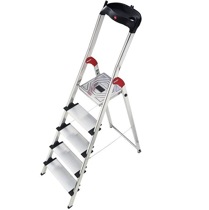 Bild zu Hailo Aluminium 5 Stufen Sicherheitsleiter Profistep XXL für 50€ (Vergleich: 69,99€)