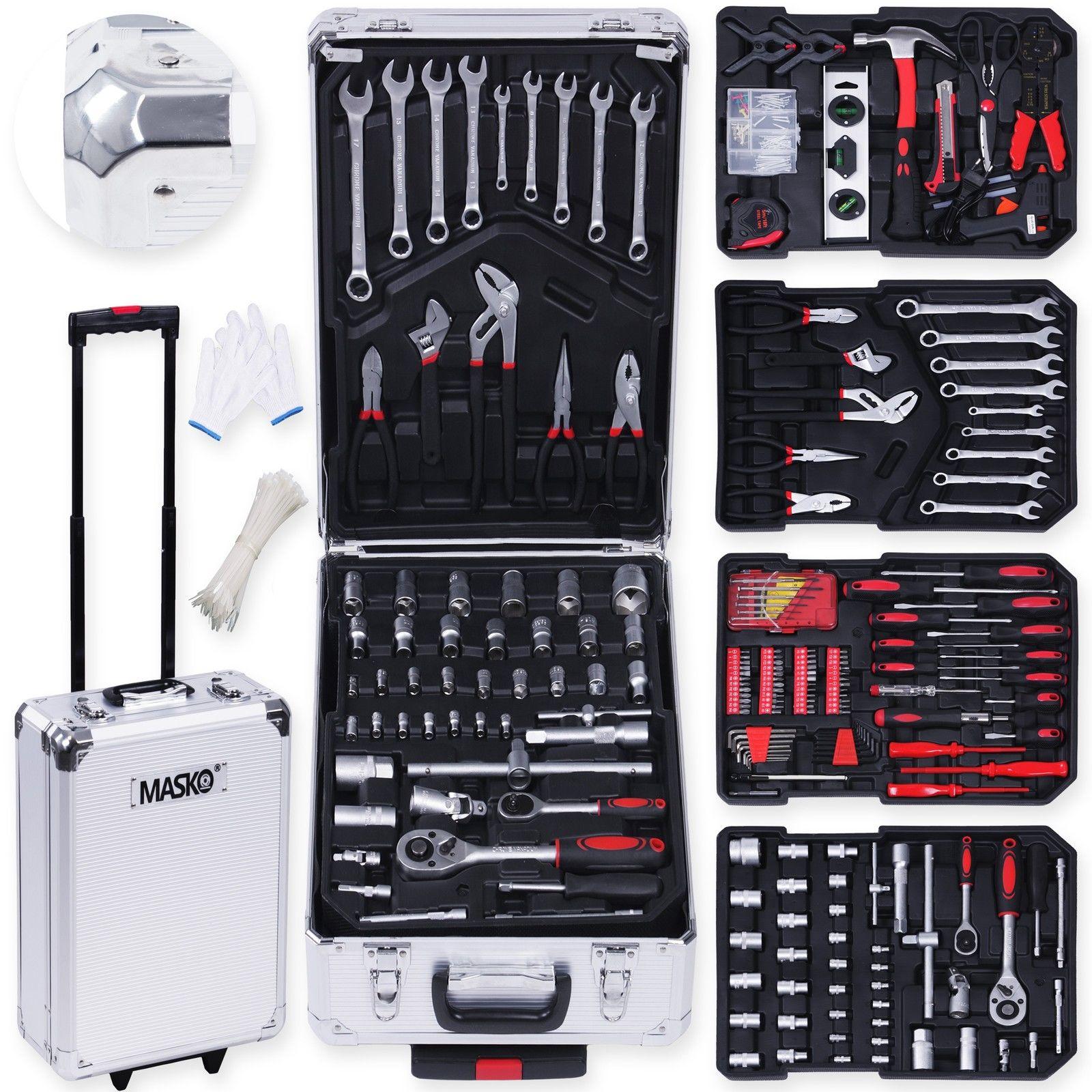 Bild zu 849-teiliger Masko Werkzeugkoffer für 62,80€ (Vergleich: 94,80€)