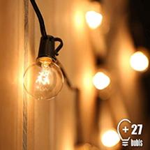 Tomshine Lichterkette Außen 7 62M 25FT G40 Hängend Lichterkette Glühbirne Strombetrieben Warmweiß Was[...]