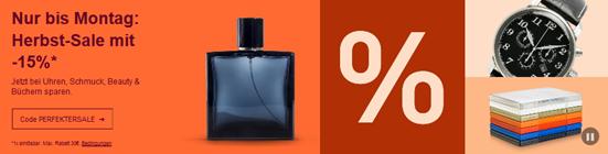 Bild zu [nur noch heute] eBay: 15% Rabatt auf die Kategorie Books, Watches & Jewelry, Beauty, Movie & DVDs und CDs