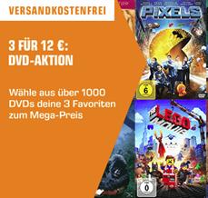 Bild zu Saturn: 3 DVDs für 12€ inklusive Versand