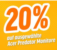 Bild zu Notebooksbilliger.de: 20% Rabatt auf Acer Predator Monitore