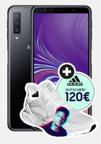 Bild zu Samsung Galaxy A7 Dual-SIM + 120€ adidas Gutschein + otelo Derbystar Fußball für einmalig 1€ mit otelo Fantarif Classic (5GB Datenflat, SMS Flat und Sprachflat) für 19,05€/Monat