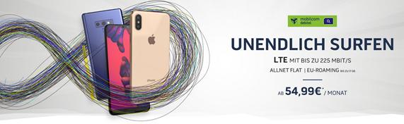 Bild zu [Super] o2 Free Unlimited Tarif (unlimitiertes LTE Datenvolumen, Allnet/SMS-Flat, EU-Flat) inkl. Top Smartphone (ab einmalig 4,95€) ab 54,99€/Monat