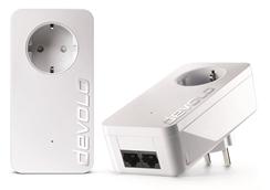 Bild zu devolo dLAN 550 duo+ Starter Kit (500 Mbit/s, 2er Kit, Powerline, 2xLAN, Steckdose) für 49€ (Vergleich: 59,90€)