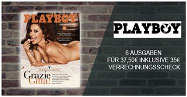 """Bild zu [nur 100x] 6 Ausgaben der Zeitschrift """"Playboy"""" für 37,50€ + 35€ Verrechnungsscheck"""