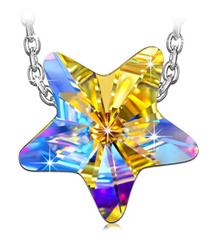 Bild zu Kami Idea Damen Kette Glücksstern 925 Sterling Silber mit Swarovski Kristall in Geschenkbox für 8,99€
