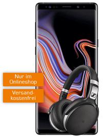 Bild zu Samsung Galaxy Note 9 inkl. Sennheiser HD 4 (einmalig 69€) + Telekom Real Allnet (8GB Datenvolumen, Allnet/SMS-Flat) für 36,99€/Monat