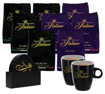 Bild zu Grand Maestro Italiano Senseo Paket (288 Stück) + 2 Tassen + Set Untersetzer für 37,94€