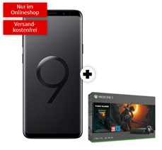 Bild zu Samsung Galaxy S9+ Dual-SIM inkl. Xbox One X 1TB – Shadow of the Tomb Raider (einmalig 99€) inkl. Telekom Real Allnet Tarif (8GB Datenvolumen, Allnet/SMS-Flat) für 36,99€/Monat