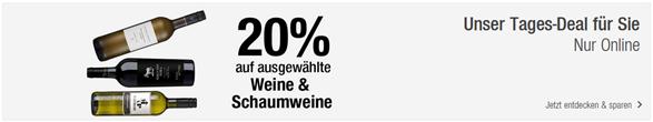 Bild zu Galeria Kaufhof: 20% Rabatt auf ausgewählte Weine & Schaumweine