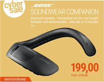 Bild zu BOSE SoundWear Companion Speaker BT-Lautsprecher für den Nacken für 199€ (Vergleich: 260,18€)