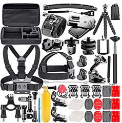 Bild zu 53teiliges Neewer GoPro Kit (Case, Gurte, Befestigungen usw.) für 15,59€