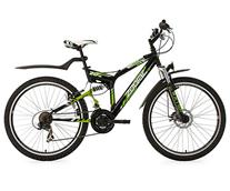 """Bild zu KS Cycling Mountainbike ATB Fully Zodiac (RH 48 cm, Schwarz/Grün, 26"""", 328M) für 152,91€ (Vergleich: 217,92€)"""