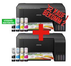 Bild zu [Super] Epson EcoTank ET-2710 Tintenstrahl-Multifunktionsgerät für 299€ + zweiten Drucker gratis (Vergleich: 575,80€)