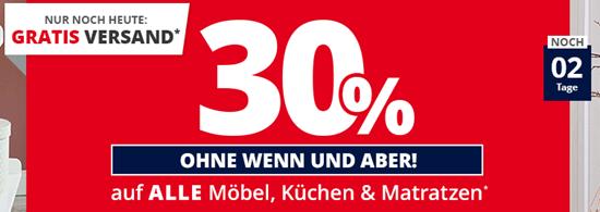 Möbel Höffner: 30% Rabatt auf Möbel, Küchen & Matratzen + ab 10 ...