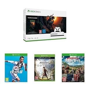 Bild zu [Knaller] Xbox One S 1TB Shadow of Tomb Raider + FIFA19 + Assassins Creed Odyssey Limited Edition + Far Cry 5 Limited Edition für 265,10€ (Vergleich: 500,66€)