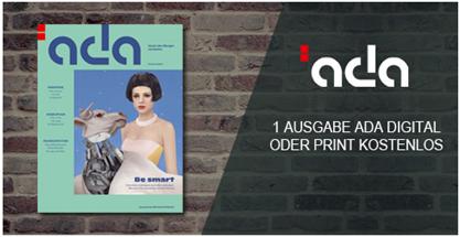 """Bild zu eine Ausgabe des Zukunftsmagazins """"ada"""" (Digital oder Print) kostenlos testen"""