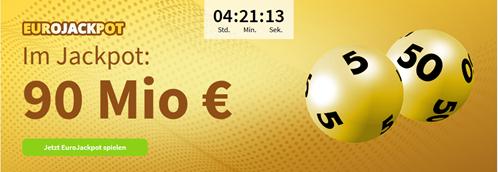 Bild zu [Super] Lottohelden Neukunden: 5 Felder EuroJackpot (90 Millionen) für 2,20€ anstatt 10,40€