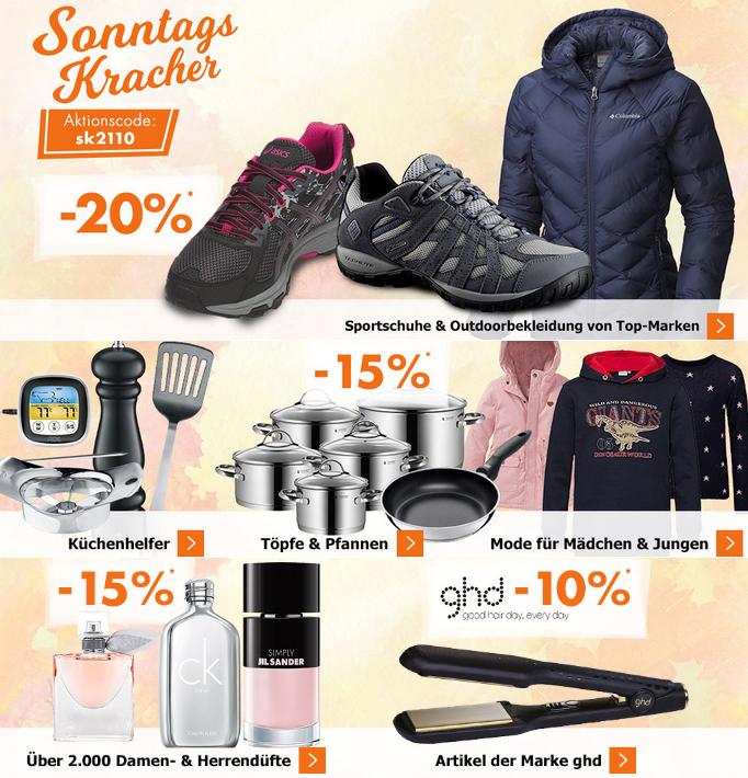 Bild zu Karstadt SonntagsKracher, z.B. 20% Rabatt auf Sportschuhe und Outdoorbekleidung
