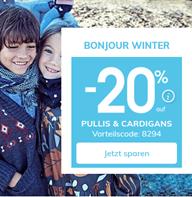 Bild zu vertbaudet: 20% Rabatt auf Pullis & Cardigans + versandkostenfrei + 10€ Newslettergutschein