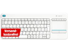 Bild zu LOGITECH K400 plus kabellose Tastatur inkl. Touchpad für 19€ inkl. Versand (Vergleich: 30,41€)