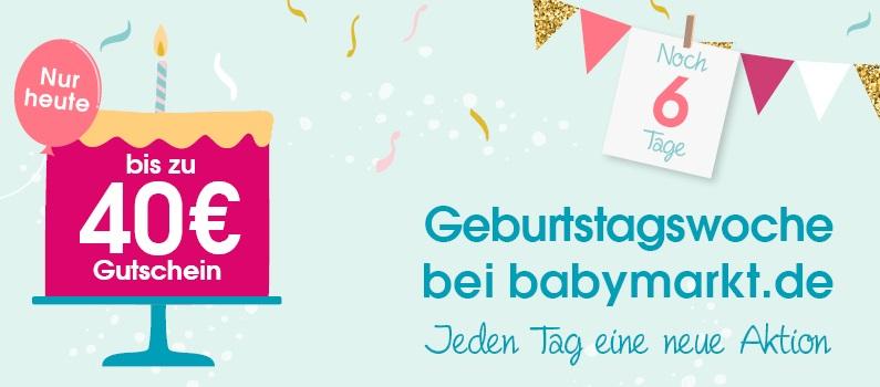 Bild zu babymarkt.de: Bis zu 40€ Rabatt auf (fast) alle Artikel im Shop (Abhängig vom Bestellwert)