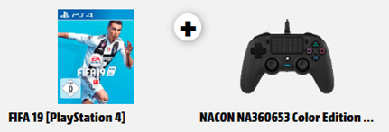 Bild zu PS4 FIFA 19 + Nacon Controller Color Edition für 69€ inkl. Versand (Vergleich: 83€)