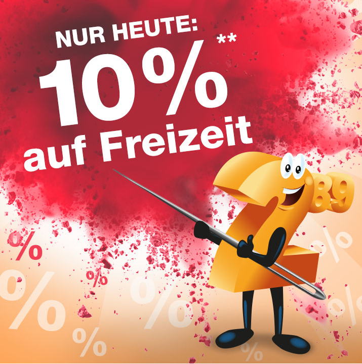 Bild zu Nur heute: 10% Rabatt auf die Kategorie Freizeit im Plus Online-Shop