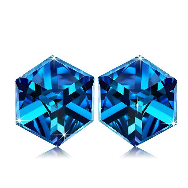 Bild zu Alex Perry Damen-Ohrringe mit blauen Swarovski Kristallen für 9,99€