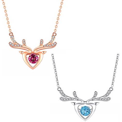 """Bild zu ATMOKO Damen Halskette """"Weihnachtself"""" in silber oder rosegeld für 16,99€"""