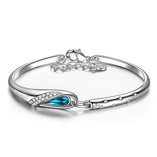 Bild zu Kami Idea Aschenputtel Armreif mit blauem Kristall von Swarovski für 9,99€