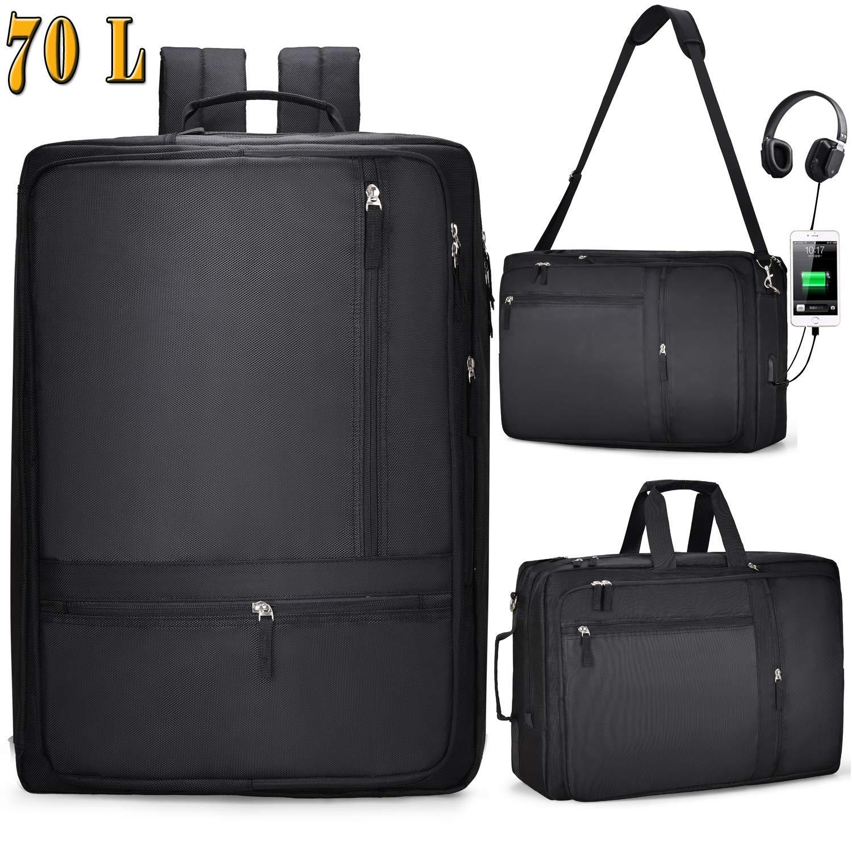 Bild zu 18,4 Zoll Multifunktions Rucksack / Messenger Bag mit Laptop-Fach und USB Anschlus für 29,99€